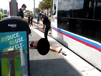 NAKED NIGGER VS POLICE