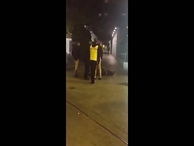 White Guy Shows Knee-Grow's Proper Sucker Punching Technique