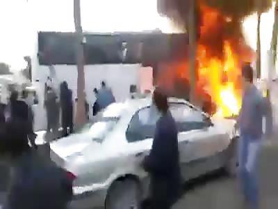 Bus fire in Iran