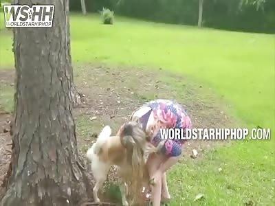 Woman Drinks her Dog's URINE