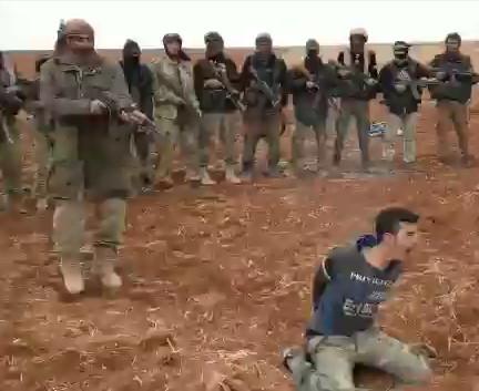 AK47 Execution of Captured Syrian Soldier by Hayat Tahrir al Sham