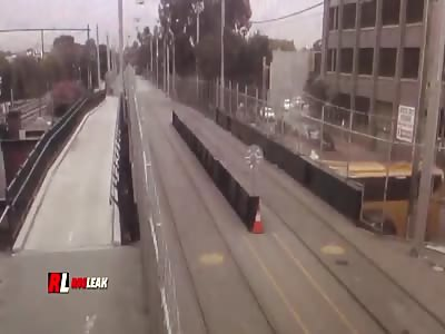 BUS CRASHES INTO BRIDGE
