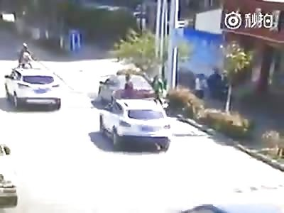 BRUTAL: MAN IS VIOLENTLY CRUSHED BY CAR