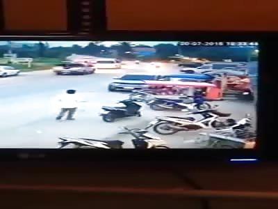 PEDESTRIAN SENT FLYING IN FATAL CAR CRASH