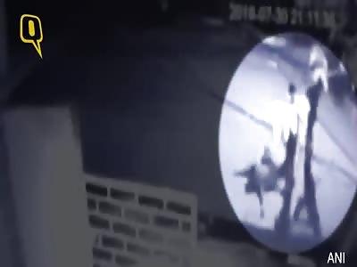 CCTV FOOTAGE SHOWS MURDER IN PROGRESS