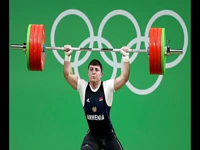 Rio 2016: ARMENIAN WEIGHTLIFTER SUFFERS HORRIFIC ELBOW INJURY
