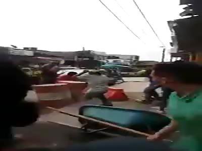 MACHETE STREET FIGHT