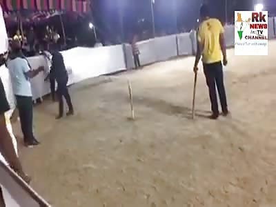 MAN DIES WHILE PLAYING CRICKET