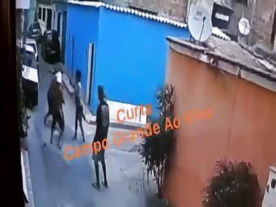 MAN BEING BEATEN TO DEATH