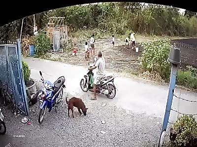 KID BEING HIT BY MOTORCYCLE
