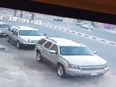 Car accident in Saudi Arabia.
