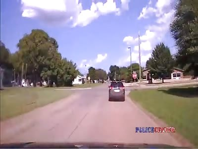 Dashcam Shows Police Chase in Stillwater Oklahoma
