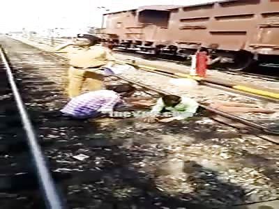 Man cut in half by train but still Alive.