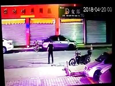 Drunk man run over by a car.