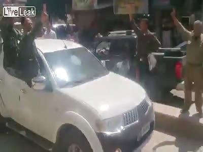 Pro Assad Kurd PKK death cultists parade corpses through Afrin