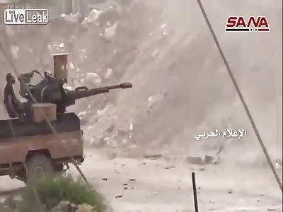 Syria - SAA pounding jihadists positions in Aleppo 04/05/2016