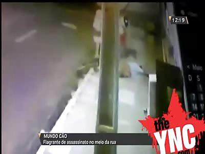 Man shot in the street