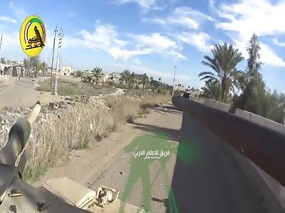 GoPro Mounted On Iraqi Abrams Tank During Operation