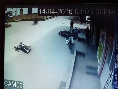brutal clash between bikes