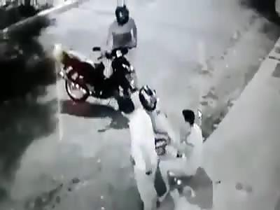 Defending themselves from an assault