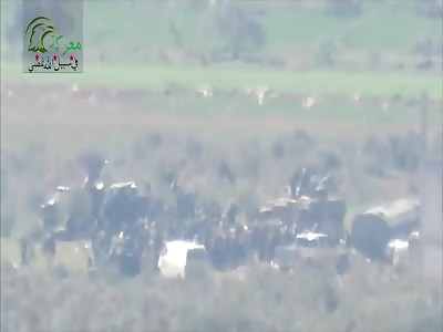 TOW Strike On Mass Of Troops Results In Explosive Selfie