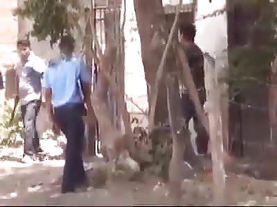 Police intervening thief