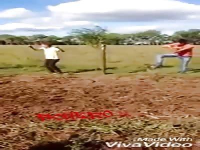 Accident with horse racing quadra