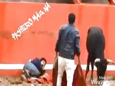 Man disfigured by bull
