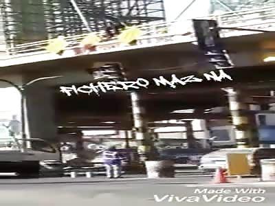 Suicide depressed man jumps bridge