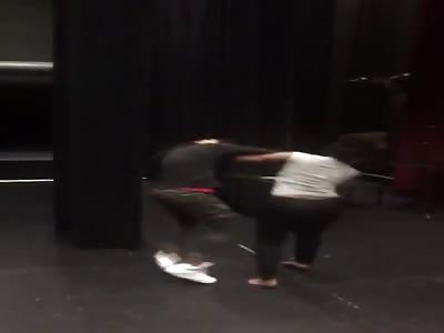 Girl fight over a nigga in school