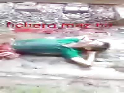 Man split in two agonizes
