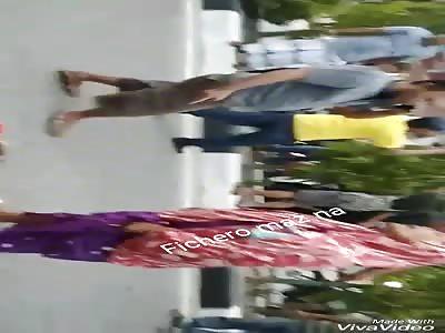 ACCIDENT: man dies on pavement
