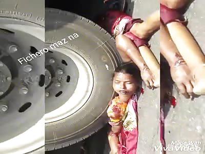 BEAUTIFUL: girl crushed by truck
