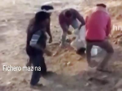 man beaten by wife's family