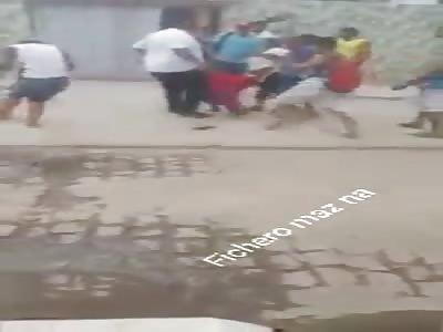 thief captured and beaten