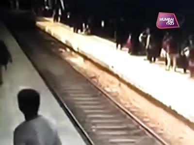 MAN HITS AT THE TRAIN STEP