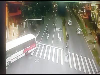 Horrific Crash a motorcyclist woman  Into a Pole at High Speed  | theYNC