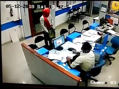 MAN RECEIVING SHOT