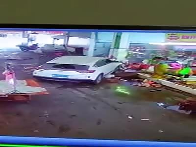 DRIVER LOSES CONTROL