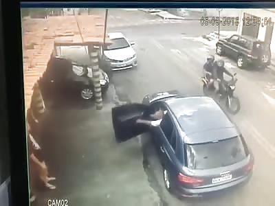 CCTV: Man Shot Multiple Times by Hitman