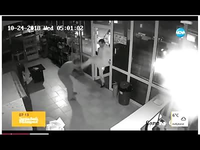 Horrific Moment Elderly Man is Kicked in the Face by Drunken Man