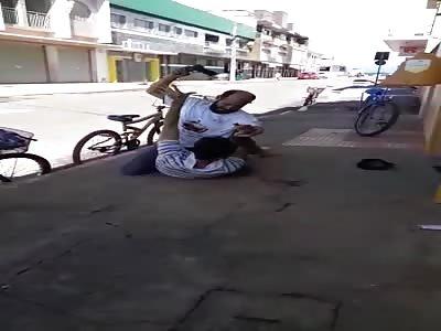 Jiu-Jitsu Fighter Takes Down Thief