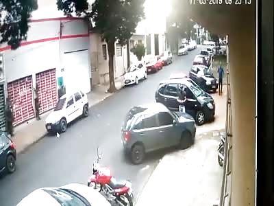 Guy With Fake Gun Gets Ass Beat