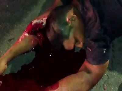 horrific accident in street