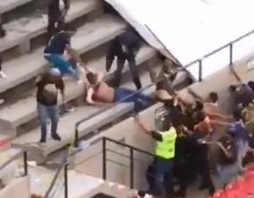 Guy Savagely Beaten by Entire Stadium