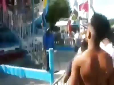 Blacks turn amusement park into war zone