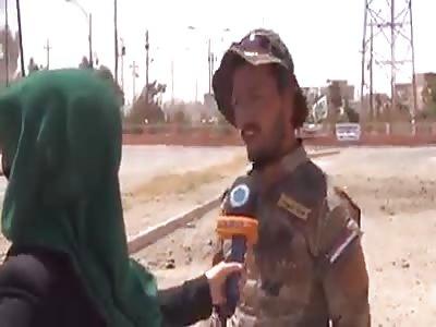 The popular Iraqi hero crowd Explosion of a bomb