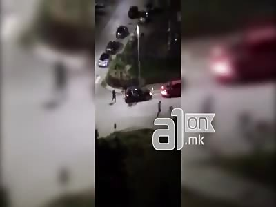 A bloody brawl in