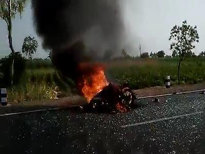 man burn in Accident