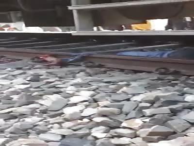 man suicide train lines